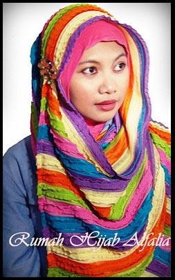 pashmina rainbow murah