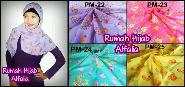 Pashmina Motif Unik Fruits