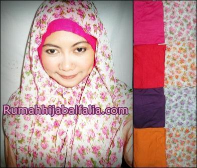Grosir Jilbab Murah Cantik  Sosor Hoodie Motif Bunga