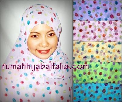 Grosir Jilbab Murah Online  Pashmina Motif Watermelon