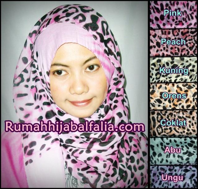 Grosir Jilbab Murah Online  Pashmina Paris Motif Animal Printing