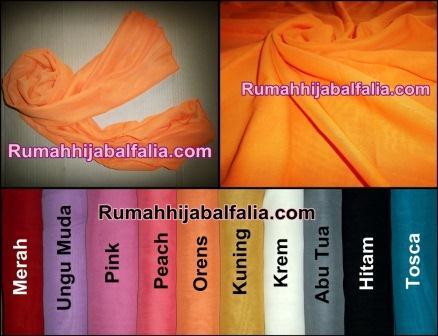 Grosir Jilbab Murah Online  Pashmina Polos