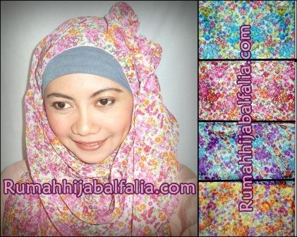 Grosir Jilbab Murah Pashmina Motif Bunga