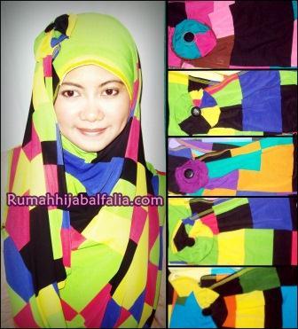 Jilbab Cantik Murah Syiria Fathin Rainbow Square