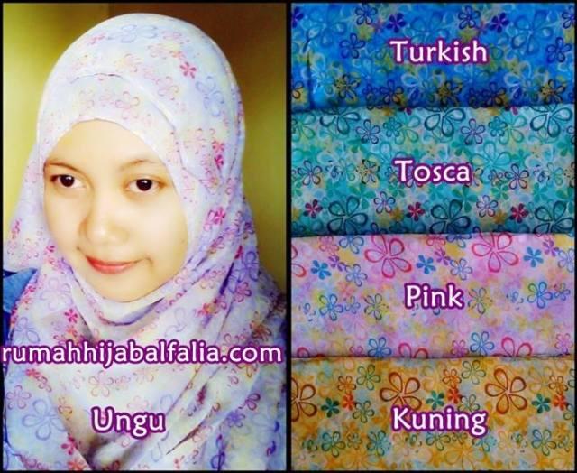 Jilbab Pashmina Bunga_Model Jilbab Modern