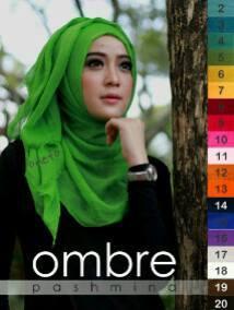 Pashmina Kusut Ombre_Model Jilbab Cantik